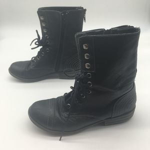American Rag Black Boots, Lace & Zip Up